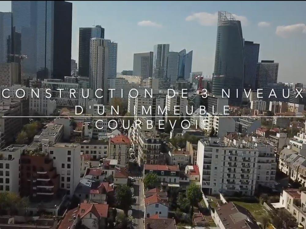 Rénovation complète d'un immeuble à Courbevoie